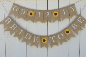"Bride to Be & Wedding Date Set ""Sunflowers"""
