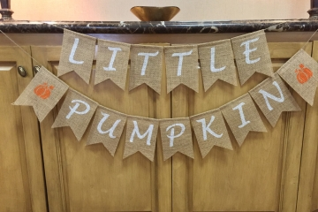 Little Pumpkin Burlap Banner