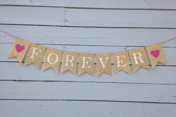 Forever Burlap Banner