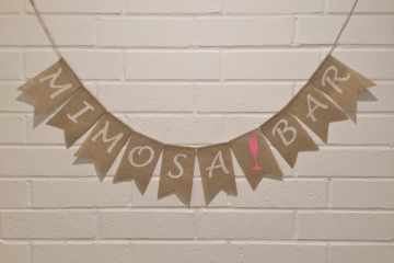 """Mimosa Bar Banner """"Contemporary"""""""
