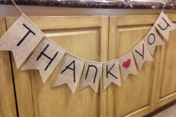 "Thank You Banner ""Modern"""