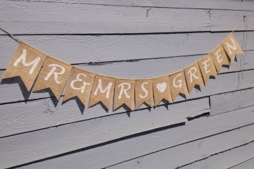 "Personalized Mr & Mrs Banner ""Contemporary"""