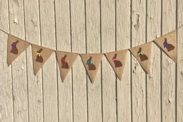 Chocolate Bunny Bunting