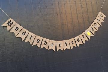 "Oktoberfest Burlap Banner ""Personalized"""
