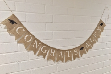 """Congrats Banner """"Personalized"""""""