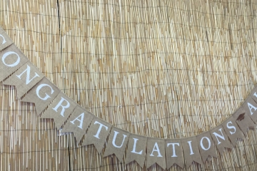 "Congratulations Sunflower Banner ""Personalized"""