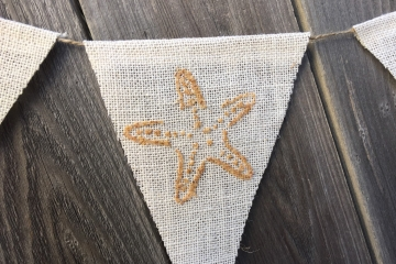 Starfish & Sand Dollars Beachy Bunting