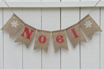 NOEL Burlap Banner